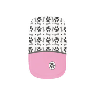 Dog Lovers Unite ANY COLOR French Tip Cute Fingernail Decals