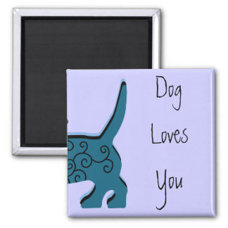 Dog Loves You Magnet