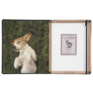 Dog Lying in Grass Sleeping iPad Folio Case