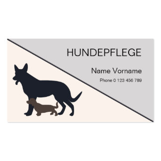 dog-maintains pack of standard business cards