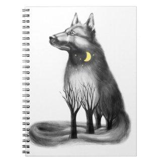 Dog - mascot, graphics. notebook