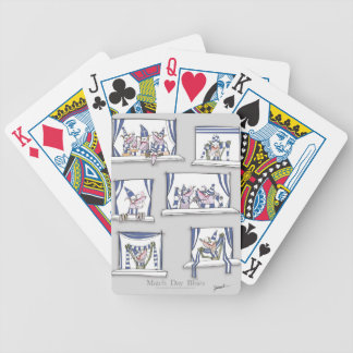dog match day blues bicycle playing cards