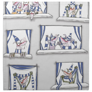 dog match day blues napkin