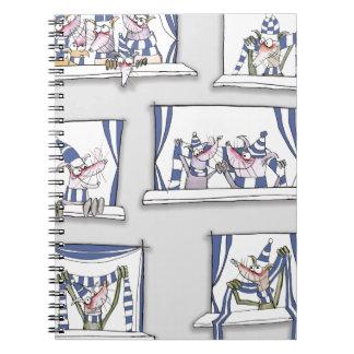 dog match day blues notebooks