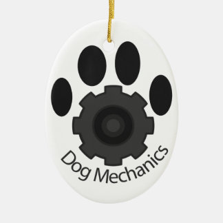 Dog Mechanics gear Ceramic Ornament