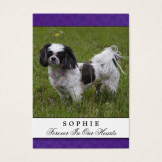 Dog Memorial Card Purple Modern Do Not Mourn Poem
