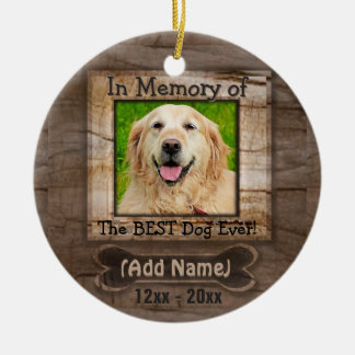 Dog Memorial Ceramic Ornament
