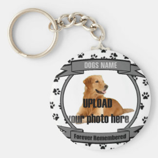 Dog Memorial Forever Remembered Basic Round Button Keychain