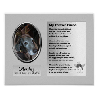 Dog Memorial My Forever Friend Poster
