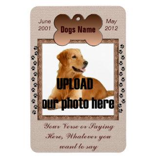 Dog Memorial - Pet Memorial Brown Tones Rectangular Photo Magnet