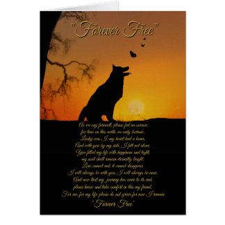 Dog Memorial Sympathy Tribute Card