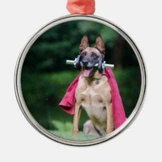 dog metal ornament