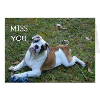 DOG  MISS YOU CARD