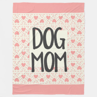 Dog Mom Large Fleece Blanket