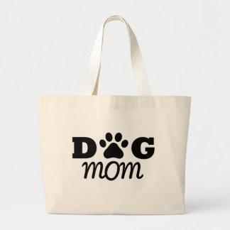 Dog mom large tote bag