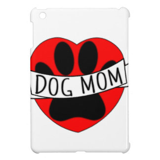 Dog Mom Paw And Red Heart Drawing Case For The iPad Mini