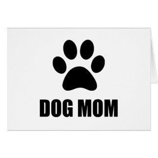 Dog Mom Paw Card