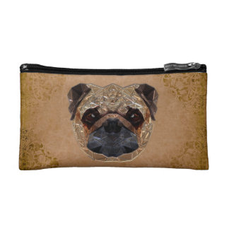Dog Mosaic Makeup Bags