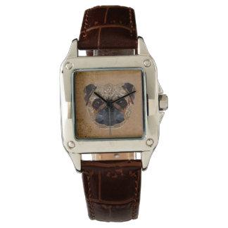 Dog Mosaic Wrist Watches