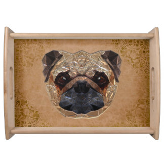 Dog Mozaic Serving Tray
