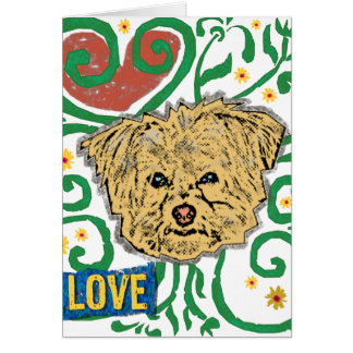 DOG: Multi-Poo Garden of Love with Flowers Card