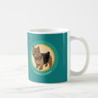 Dog norwich terrier classic white coffee mug