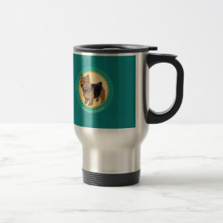 Dog norwich terrier travel mug