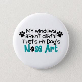 Dog Nose Art 2 Inch Round Button