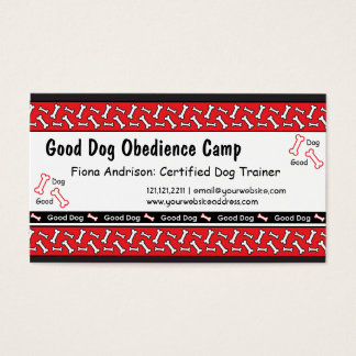 Dog Obedience Classes Dog Trainer Business Cards