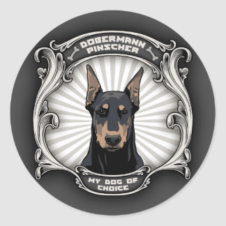 Dog of Choice Classic Round Sticker