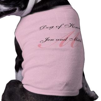 Dog of Honor Wedding Pink Dog Shirt Medium
