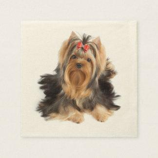 Dog of show class paper napkins