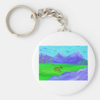 Dog on a Hunting Party(Everyone Run) Basic Round Button Keychain