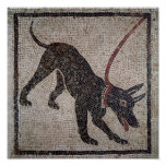 Dog on a leash, from Pompeii Poster