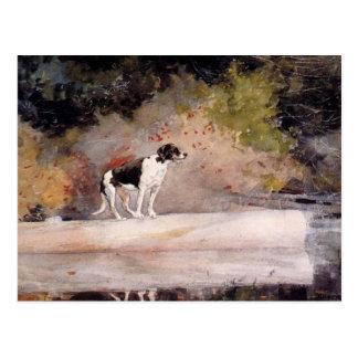Dog on a Log by Winslow Homer Postcard