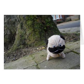 Dog on a Pavement Card