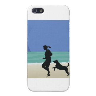 Dog on Beach iPhone 5/5S Cases