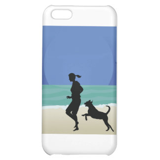 Dog on Beach iPhone 5C Case
