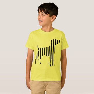 Dog on Stripes T-Shirt