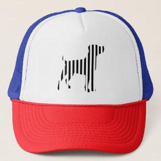Dog on Stripes Trucker Hat