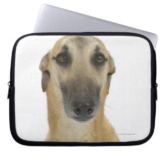 Dog on White 41 Laptop Sleeve