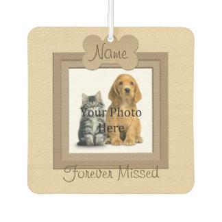 Dog or Cat Beige Framed Pet Memorial Air Freshener