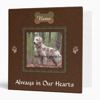 Dog or Cat Brown Memorial Photo Vinyl Binders