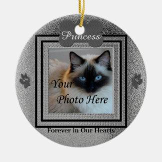 Dog or Cat Memorial Custom Silver Ceramic Ornament