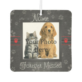 Dog or Cat Paw Prints Pet Memorial to Personalize Air Freshener