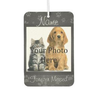 Dog or Cat Paw Prints Pet Memorial to Personalize Car Air Freshener