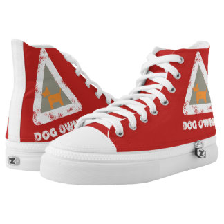Dog Owner Funky High Top Shoes