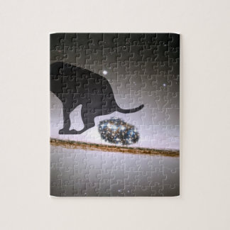 Dog p. over Galaxy Jigsaw Puzzle