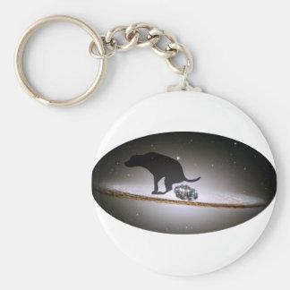 Dog p. over Galaxy Keychain