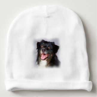 Dog painting - dog art - pet art baby beanie
